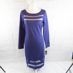 Hal Rubenstein Dress Candy Illusion Stripes Medium